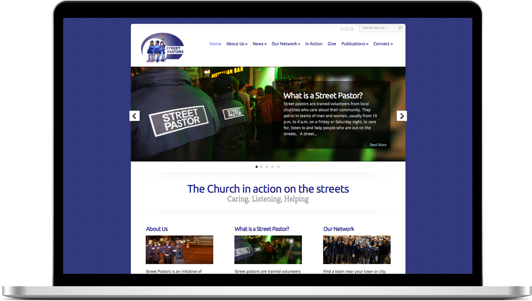 Street Pastors Website Screenshot